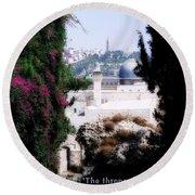 Jerusalem Throne Of Yahweh Round Beach Towel