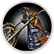 Jesse James Bike Detroit Mi Round Beach Towel