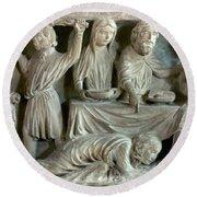 Jesus And Mary Magdalene Round Beach Towel