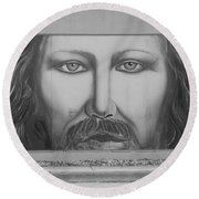 Jesus On The Street Round Beach Towel