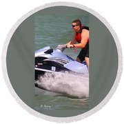 Jet Ski Speed Round Beach Towel