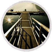 Jetty Round Beach Towel