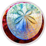 Jeweled Sand Dollar Round Beach Towel