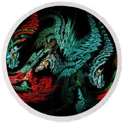 Jewels Of The Night Round Beach Towel