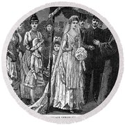 Jewish Wedding, C1892 Round Beach Towel