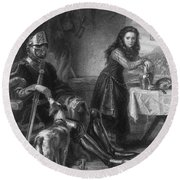 Joan Of Arc, French National Heroine Round Beach Towel