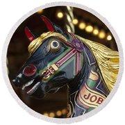Joby The Carousel Horse Round Beach Towel
