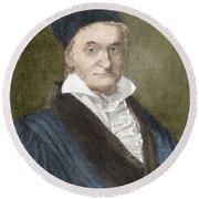 Johann Carl Friedrich Gauss, German Round Beach Towel