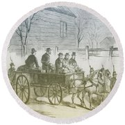 John Brown, American Abolitionist Round Beach Towel