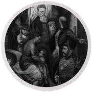 John Brown Meeting Slave Mother Round Beach Towel by Photo Researchers
