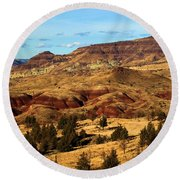 John Day Blue Basin Round Beach Towel