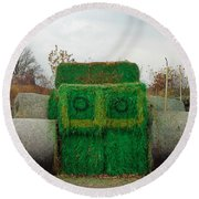 John Deer Made Of Hay Round Beach Towel