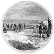 John Doyle Lee (1812-1877) Round Beach Towel