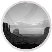 John Ford's Monument - Greeting Card Round Beach Towel
