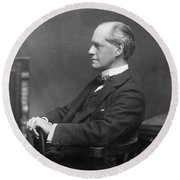 John Galsworthy Round Beach Towel