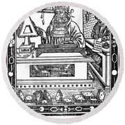 John Peckham, Anglican Theologian Round Beach Towel by Science Source