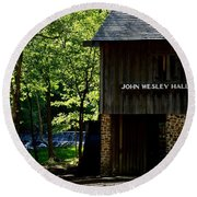 John Wesley Halls Gristmill Round Beach Towel