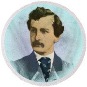 John Wilkes Booth, Assassin Round Beach Towel