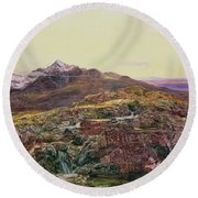 John William Inchbold Round Beach Towel