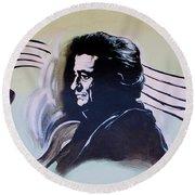 Johnny Cash Round Beach Towel