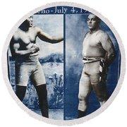 Johnson Vs. Jeffries, 1910 Round Beach Towel