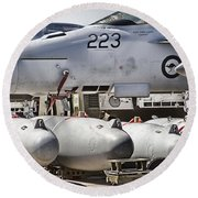 Joint Operations Squadron V4  Round Beach Towel