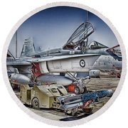 Joint Operations V3 Round Beach Towel