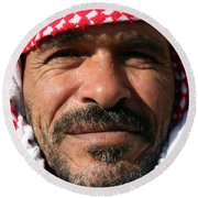 Jordanian Man Round Beach Towel