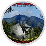 Jorma- Song For The High Mountain Round Beach Towel
