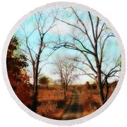 Journey To The Past Round Beach Towel