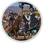 Joust To The End... Round Beach Towel