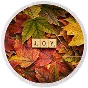 Joy-autumn Round Beach Towel