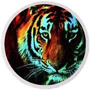 Jungle Cat Round Beach Towel