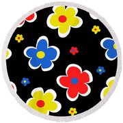 Junior Florals Round Beach Towel
