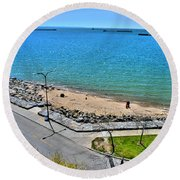 Just A Beautiful Day Round Beach Towel