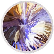 Just Abstract Iv Round Beach Towel