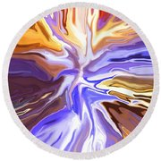 Just Abstract V Round Beach Towel