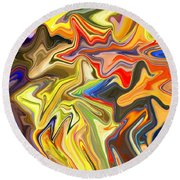 Just Abstract Viii Round Beach Towel