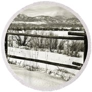 Just Beyond The Fence 1 Round Beach Towel