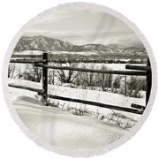Just Beyond The Fence 2 Round Beach Towel