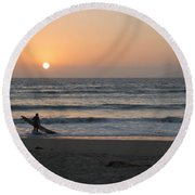 Just One More Wave Round Beach Towel