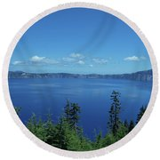 Just One Part Of Crater Lake Round Beach Towel