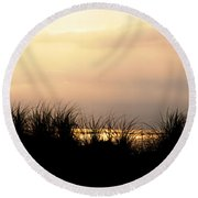 Just Over The Dune Round Beach Towel