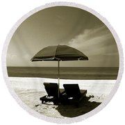 Just You And Me Round Beach Towel