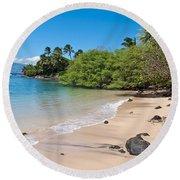 Kahana Beach Round Beach Towel