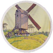 Kalf Mill Round Beach Towel