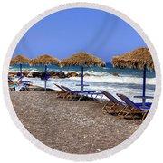 Kamari - Santorini Round Beach Towel