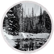 Kananaskis Creek Round Beach Towel