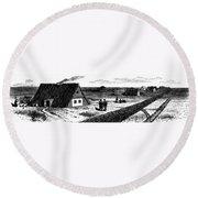 Kansas, Mennonites, C1874 Round Beach Towel