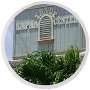 Kapaa Trade Center Round Beach Towel